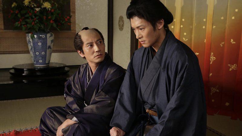 映画『花宵道中』吉田屋役の津田寛治と半次郎役の淵上泰史