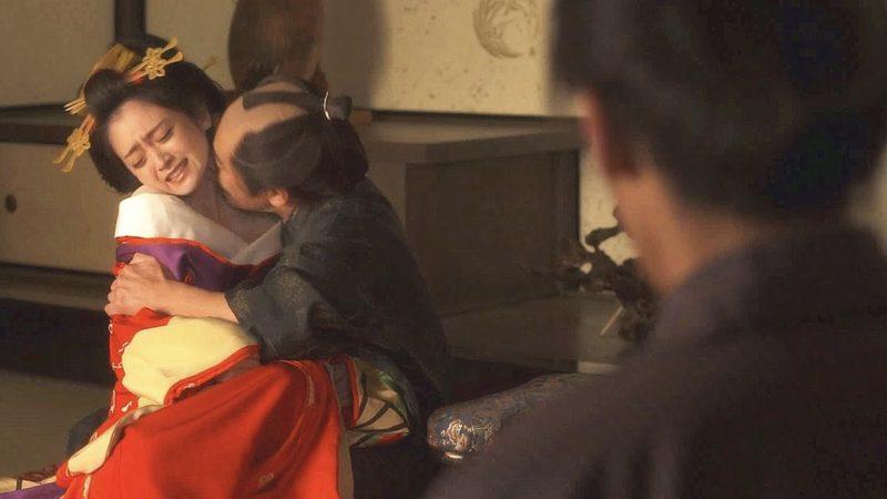 映画『花宵道中』津田寛治に乳首をこねくり回される安達祐実