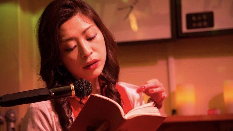 映画『神と人との間』官能小説を朗読する内田慈