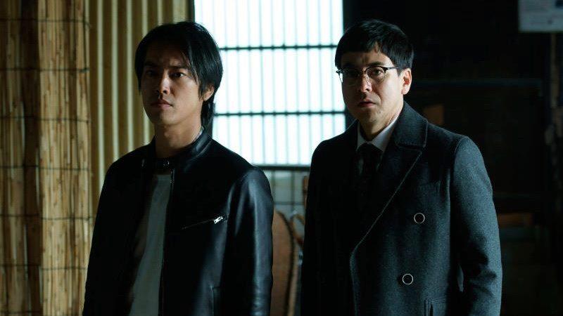 映画『ビジランテ』神藤二郎役の鈴木浩介と神藤三郎役の桐谷健太