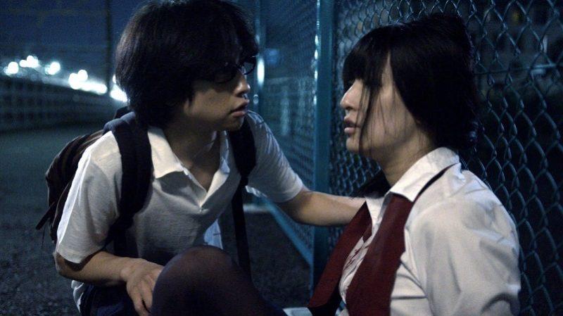 映画『シオリノインム』詩織役の松川千紘とユウスケ役の古谷蓮