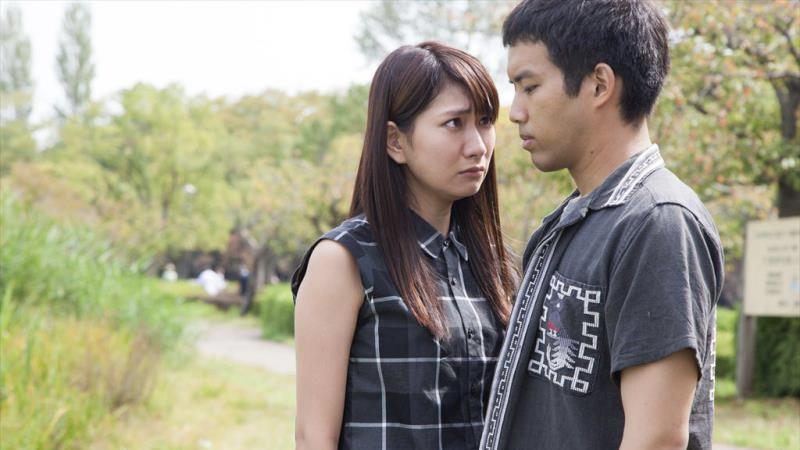 映画『ローリング』貫一役の三浦貴大と朋美役の井端珠里