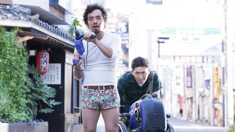 映画『ローリング』繁夫役の松浦祐也と船越役の橋野純平