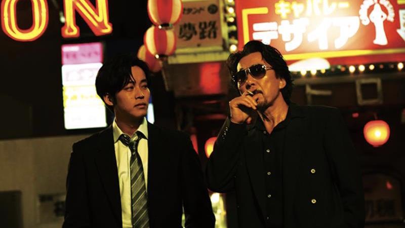 映画『孤狼の血』大上章吾役の役所広司と日岡秀一役の松坂桃李
