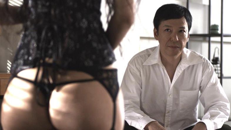 映画『私の奴隷になりなさい』香奈役の壇蜜と先生役の板尾創路