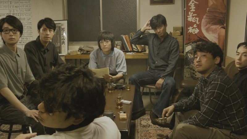 映画『止められるか、俺たちを』小水一男役の毎熊克哉と足立正生役の山本浩司