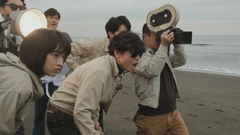 映画『止められるか、俺たちを』吉積めぐみ役の門脇麦と若松孝二役の井浦新