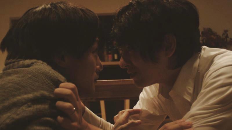 映画『ひかりをあててしぼる』谷中浩平役の忍成修吾と豊永巧役の永山たかし